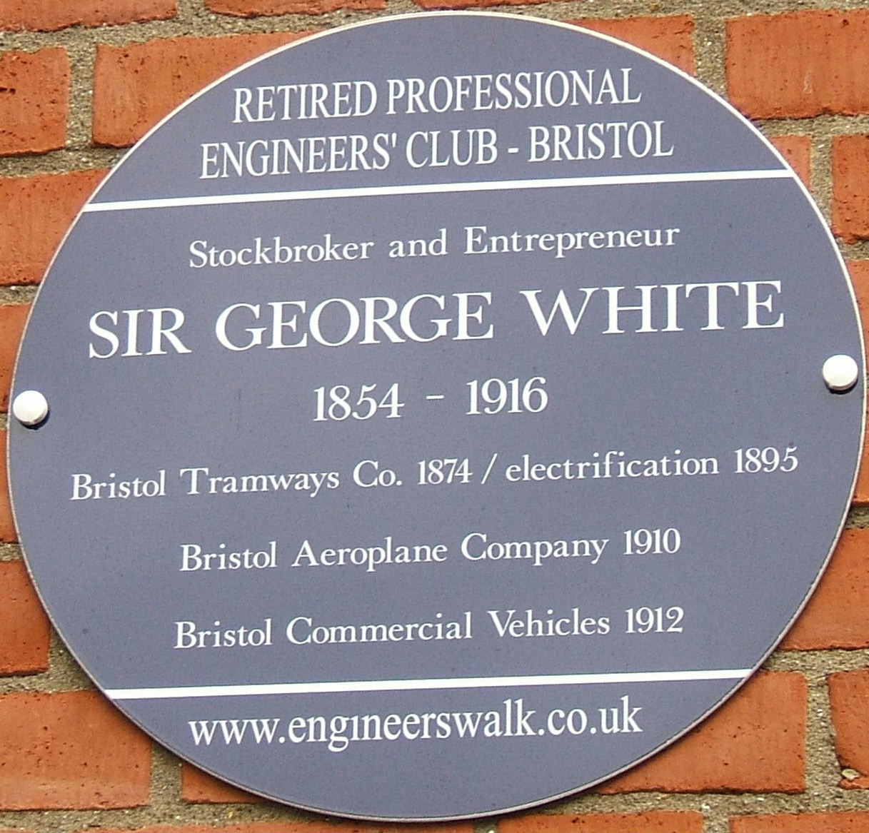 George White plaque1